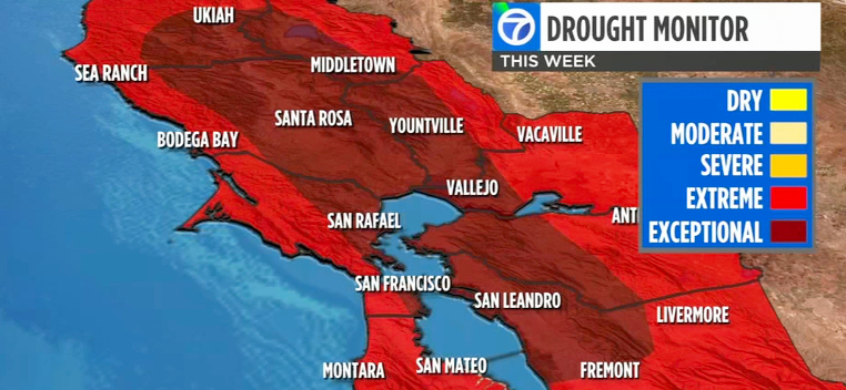 ABC7 Map of SF Bay Area Drought