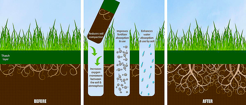 Aeration process illustration