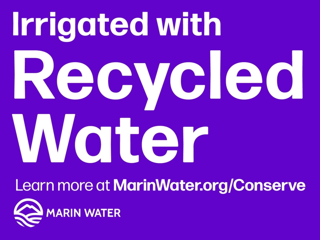 Irrigated with Recycled Water